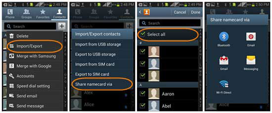 how to transfer contacts from android to computer via bluetooth