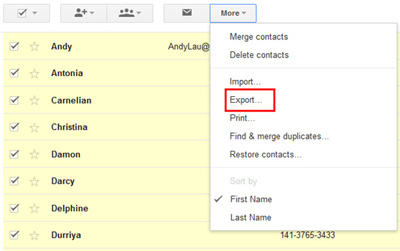 how to transfer contacts from android to computer with gmail