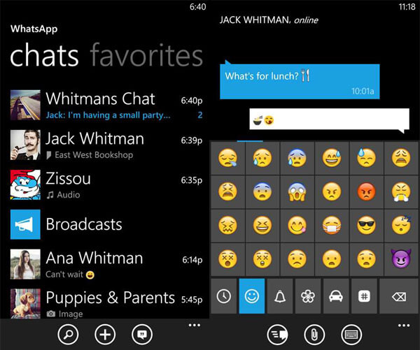 WhatsApp на Windows Phone